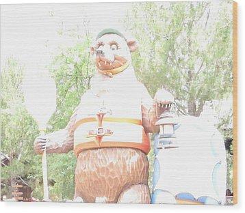 Disneyland Park Anaheim - 121246 Wood Print by DC Photographer