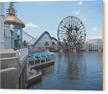Disneyland Park Anaheim - 121253 Wood Print by DC Photographer