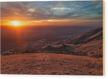 Wood Print featuring the photograph Mount Diablo - Distant by Francesco Emanuele Carucci