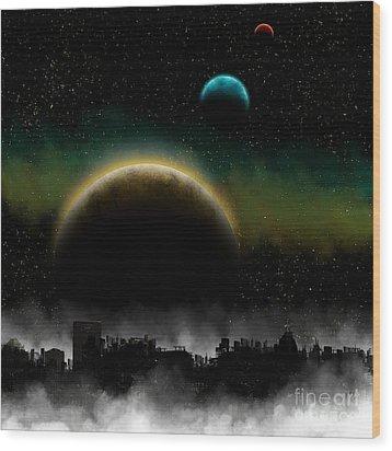Distant Skys Wood Print by Thomas OGrady