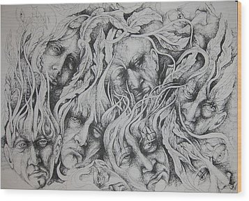 Distress Wood Print by Moshfegh Rakhsha