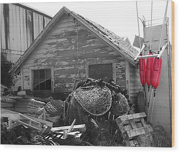 Wood Print featuring the photograph Distressed Fishery by Greg Graham