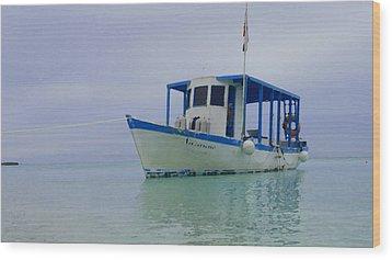 Dive Boat Wood Print