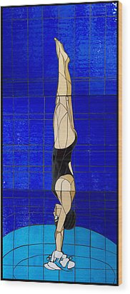 Diver Wood Print by Kimber Thompson
