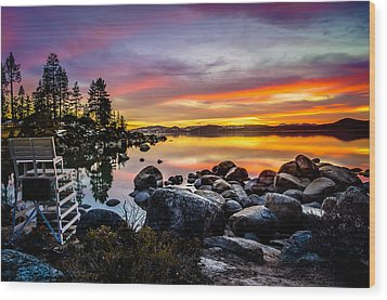 Diver's Cove Lake Tahoe Wood Print
