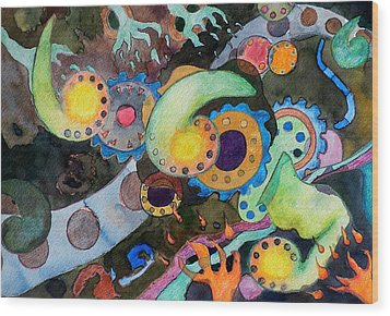 Wood Print featuring the painting Diverticulitis by Jeffrey S Perrine