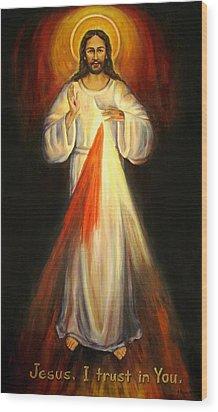 Divine Mercy Wood Print by Sheila Diemert