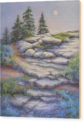 Divine Moonshine Wood Print