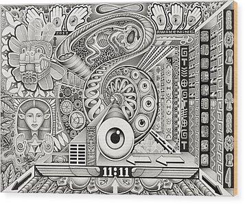 Divine Resonance Wood Print by Christopher Sheehan