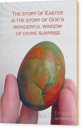 Divine Surprise Wood Print by Ausra Huntington nee Paulauskaite