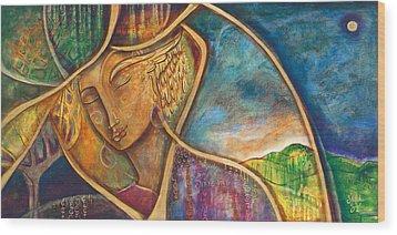 Divine Wisdom Wood Print by Shiloh Sophia McCloud