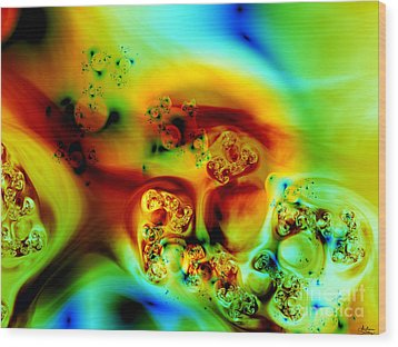 Wood Print featuring the digital art Divinorum by Arlene Sundby