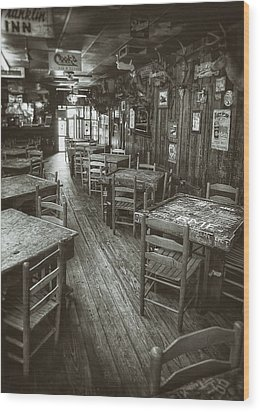 Dixie Chicken Interior Wood Print by Scott Norris