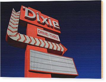 Dixie Drive Thru Wood Print