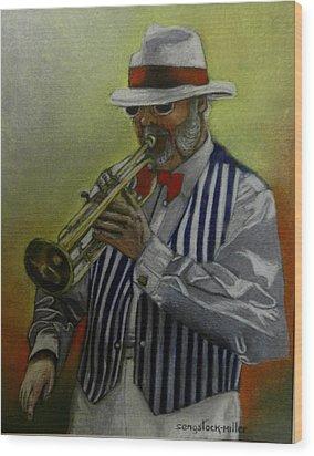 Dixie Music Man Wood Print by Sandra Sengstock-Miller