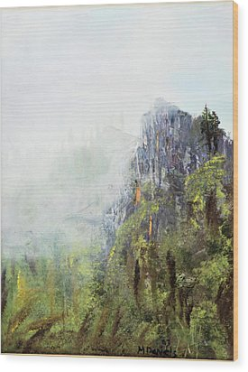 Wood Print featuring the painting Dixville Notch Nh by Michael Daniels