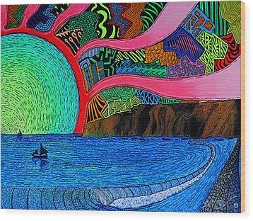 Dizzy Dana Point Wood Print by Sam Bernal