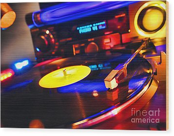 Dj 's Delight Wood Print by Olivier Le Queinec