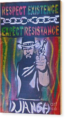 Django Rasta Resistance Wood Print by Tony B Conscious