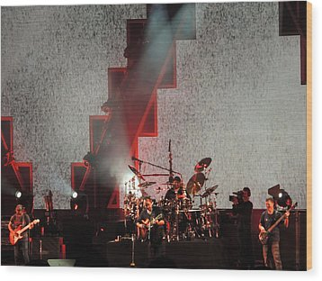 Wood Print featuring the photograph Dmb Members by Aaron Martens