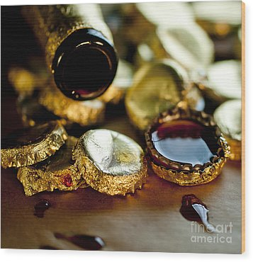 Wood Print featuring the photograph Do Not Cry Over Spilt Beer by Wilma  Birdwell