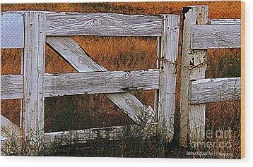 Do Not Enter Wood Print by Bobbee Rickard