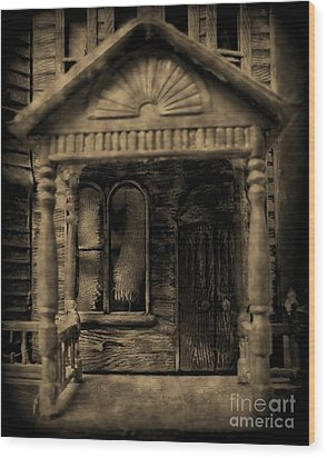 Do Not Enter Wood Print by John Malone