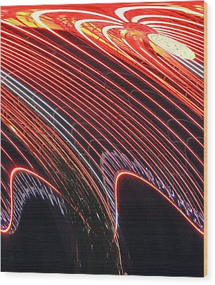 Do The Wave Wood Print by Marian Bell