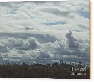 Do You See What I See In The Clouds. Wood Print by Deborah DeLaBarre