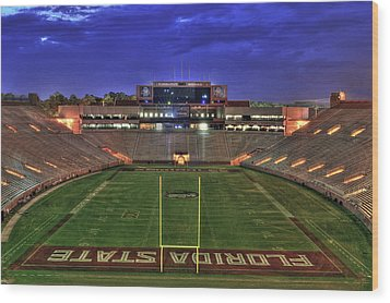 Doak Campbell Stadium Wood Print by Alex Owen