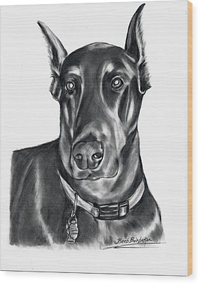 Doberman Pincher Wood Print