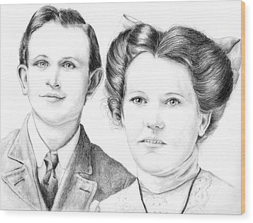 Wood Print featuring the drawing Dobson Wedding  by Mike Ivey
