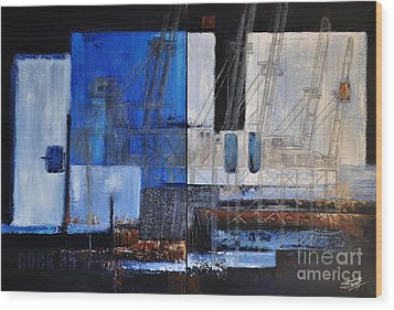 Dock 35 Wood Print by Sallie-Anne Swift