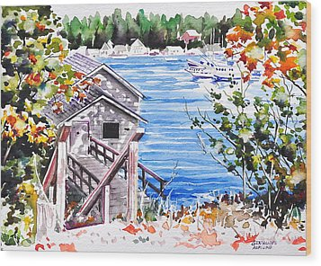 Harborview Drive View Wood Print
