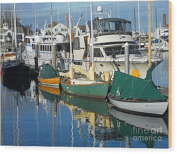 Dock Of The Bay Wood Print by Lauren Leigh Hunter Fine Art Photography