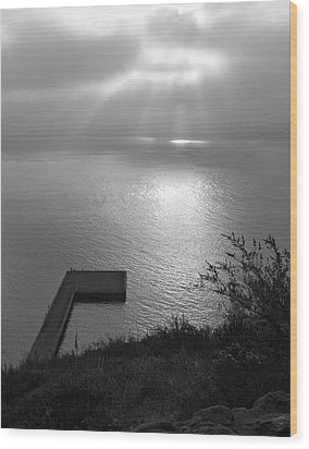 Wood Print featuring the photograph Dock On San Francisco Bay by Scott Rackers