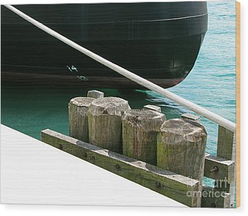 Docked Wood Print by Ann Horn