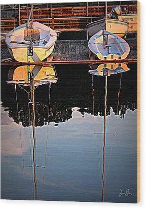 Docked Wood Print by Geri Glavis