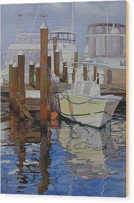 Docked Wood Print by Judy Mercer