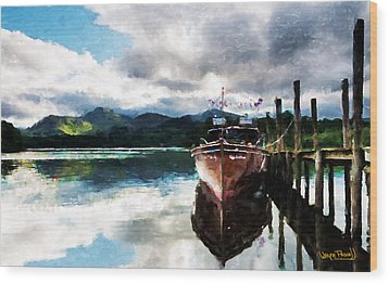 Docked Wood Print by Wayne Pascall