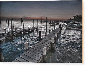 Docks At Ballyhoo Wood Print