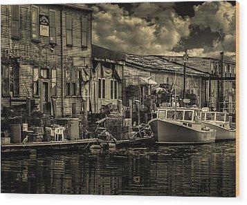 Dockside  Wood Print by Bob Orsillo