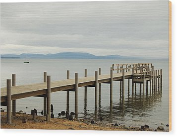 Wood Print featuring the photograph Dockside by Tamyra Crossley