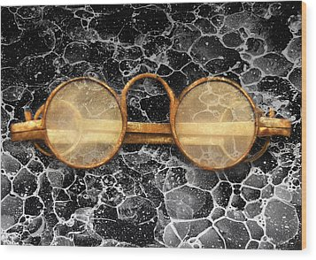 Doctor - Optometrist - Glasses Sold Here  Wood Print by Mike Savad