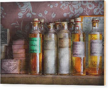 Doctor - Perfume - Soap And Cologne Wood Print by Mike Savad