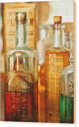 Doctor - Remedies For Hoarseness  Wood Print by Mike Savad