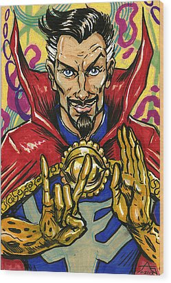 Doctor Strange Wood Print by John Ashton Golden