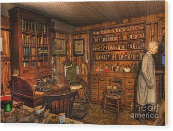 Doctor - The Physician Office Wood Print by Lee Dos Santos