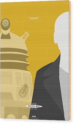 Doctor Who 50th Anniversary Poster Set Nineth Doctor Wood Print by Jeff Bell