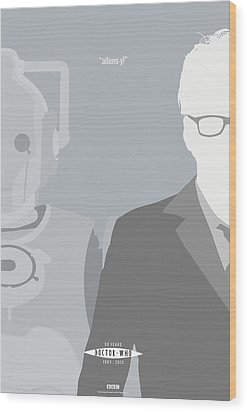 Doctor Who 50th Anniversary Poster Set Tenth Doctor Wood Print by Jeff Bell